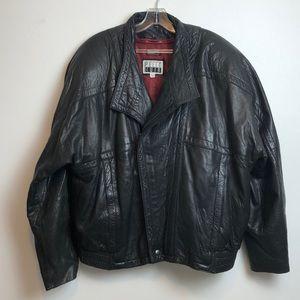 Fantastic vintage leather motorcycle jacket XL